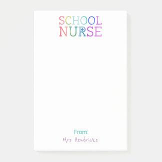 Skola rolig färgrik typografi för post-it block
