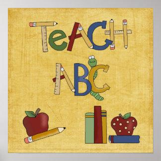 Skola samlingen undervisar ABC skolar affischen Poster