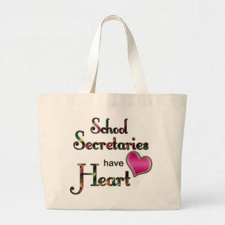 Skola sekreterarar har hjärta jumbo tygkasse