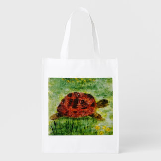Sköldpadda i den trädgårds- konsten återanvändbar påse