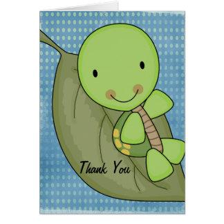Sköldpaddablåttpolkaen pricker baby showertack OBS kort