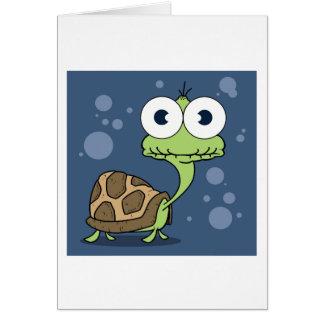 Sköldpaddahälsningkortet, vit packar inklusive in hälsningskort