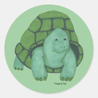 Sköldpaddaklistermärke Runt Klistermärke