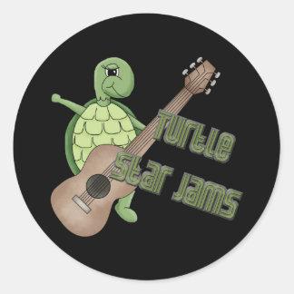 Sköldpaddastjärnasylter Rund Klistermärke