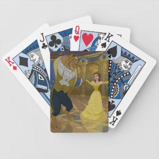 Skönhet & beasten   som dansar i balsalen spelkort