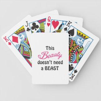 Skönhet behöver inte en beast spelkort