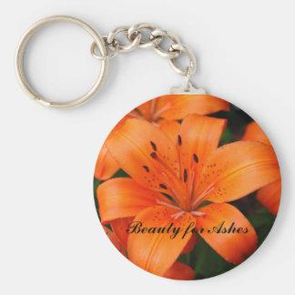Skönhet för aska rund nyckelring