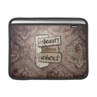 Skönhet från kristen damast för aska skrotar MacBook sleeve
