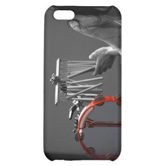 Skönhet i slagverk - svart & vit iPhone 5C mobil skal