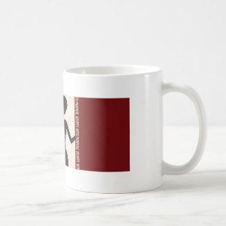 Skönhet med ämnar silhouetten kaffemugg