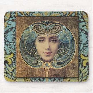 Skönhet Mousepad för art nouveauVictorianvintage Mus Matta