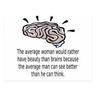 Skönhet över hjärnor vykort