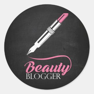 Skönhetbloggare Runt Klistermärke
