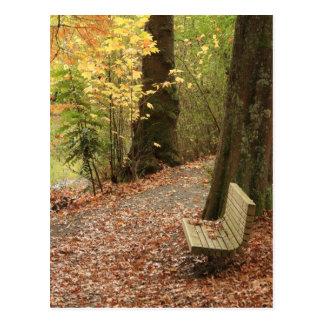 Skönheten av hösten vykort