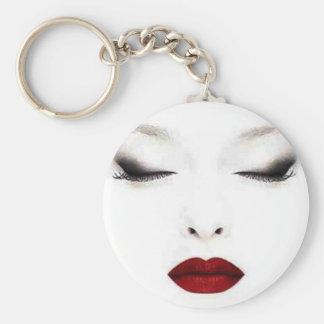Skönhetliv Keychain Rund Nyckelring