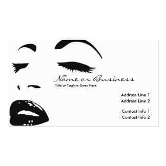 skönhetsilhouette visitkort