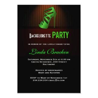 Skor den gröna kickhälet för Glam den Bachelorette 12,7 X 17,8 Cm Inbjudningskort