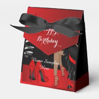 Skor den röda svarten för födelsedagsfest presentaskar