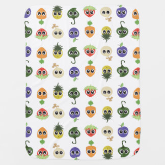 Skörd Cuties: Blandad mönsterbabyfilt Bebisfilt