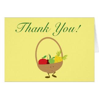Skördbasketen tackar dig hälsningskort