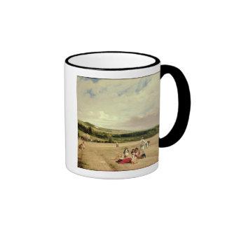 Skördfält (olja på kanfas) kaffe muggar