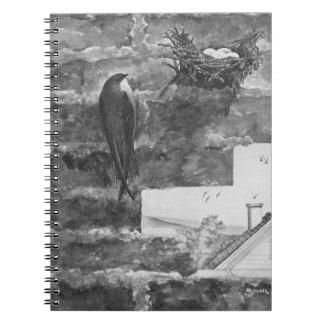 Skorsten snabbt och bygga bo anteckningsbok