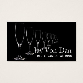 Sköta om partybröllopsfixarenrestaurangen visitkort