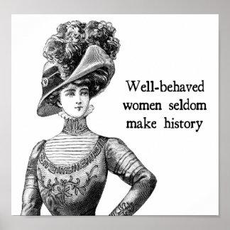 Skötsamma kvinnor gör sällan historia poster