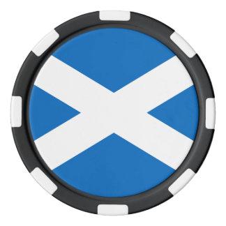 Skotsk flagga av den Skottland St Andrew kor Poker Marker