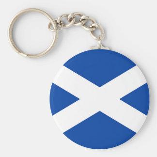 Skotsk flagga - Saltire - Keychain Rund Nyckelring