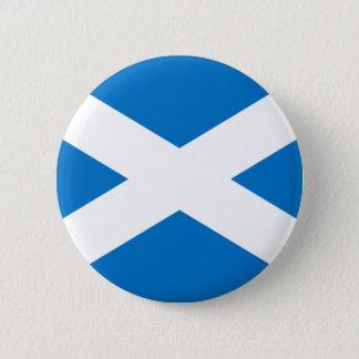 Skotsk flagga standard knapp rund 5.7 cm