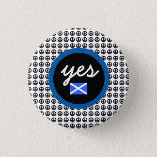 Skotsk för självständighet fredflagga ja mini knapp rund 3.2 cm