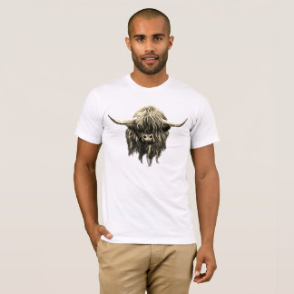 Skotsk höglands- ko t shirts