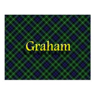 Skotsk klan Graham Vykort