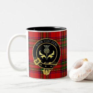 Skotsk klanvapensköldThistle Två-Tonad Mugg