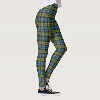 Skotsk pläd för Campbell blått- och gröntTartan Leggings