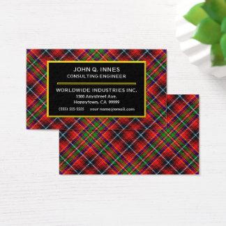 Skotsk pläd för klanInnes Tartan Visitkort