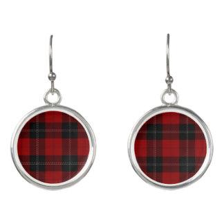Skotsk pläd för klanRamsay Ramsey röd svart Tartan Örhängen