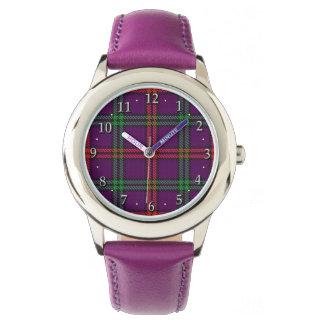 Skotsk pläd för Tartan för klanMontgomery familj Armbandsur