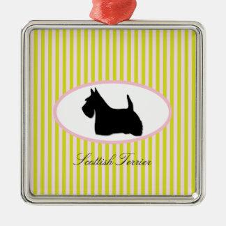 Skotsk prydnad för silhouette för Terrierhundsvart Julgransprydnad Metall