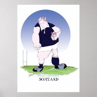 skotsk rugby, tony fernandes poster