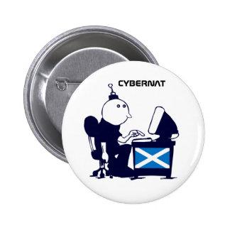 Skotsk självständighet Indy Cybernat knäppas emble Standard Knapp Rund 5.7 Cm
