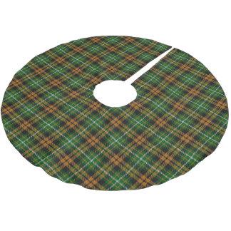 Skotsk Tartan för klanRamsay Ramsey orange jakt Julgransmatta Borstad Polyester