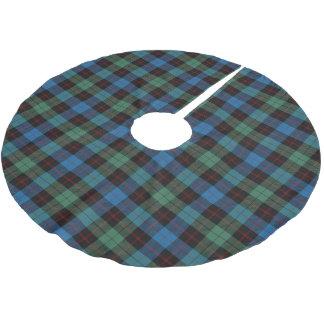 Skotsk Tartan för svart för grönt för klanGuthrie Julgransmatta Borstad Polyester