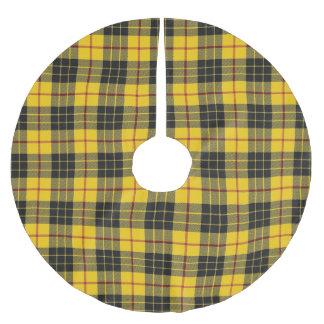 Skotsk Tartan för svart för klanMacLeod gult Julgransmatta Borstad Polyester