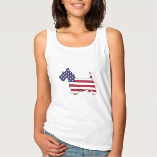 """Skotsk terrier - """"amerikanska flaggan """", linne"""