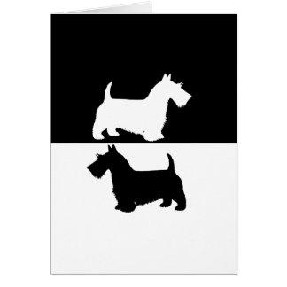 skotsk terrier hälsningskort