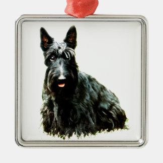 Skotsk Terrier Julgransprydnad Metall