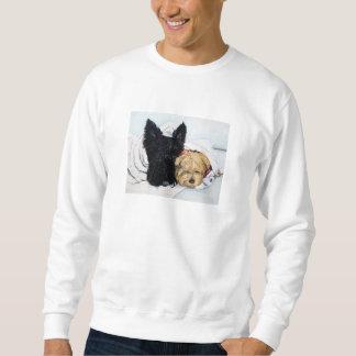 Skotsk Terrier & Yorkie bästa vän Långärmad Tröja