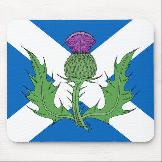 Skotsk Thistle och Saltire Musmatta
